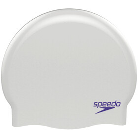 speedo Plain Moulded Cuffia Bambino, white/purple